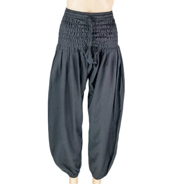 plain-black-harem-pant-women-thamel-shop-worldwide-shipping