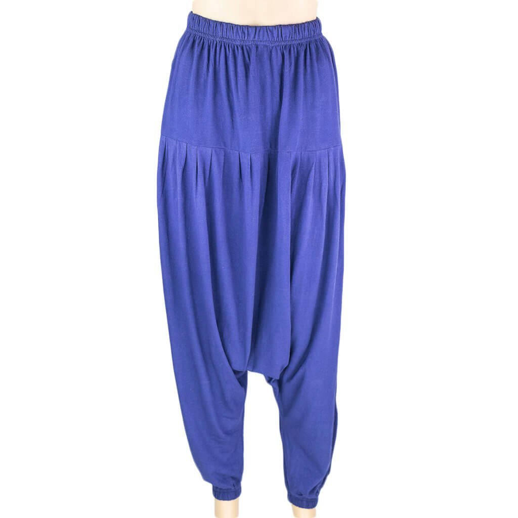 Blue Drop Crotch Harem Pant