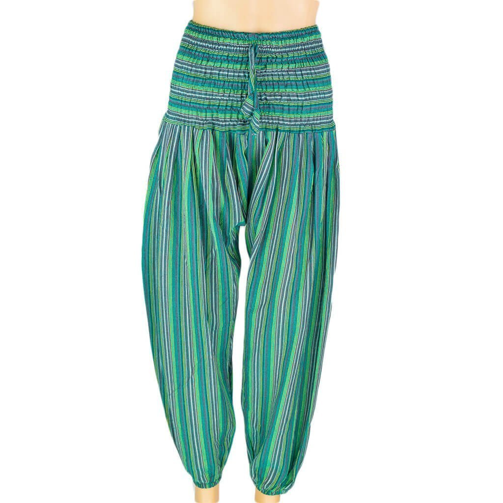 thamel-shop-women-stripe-harem-pant-sea-green-hippie-nepal-clothing-australia