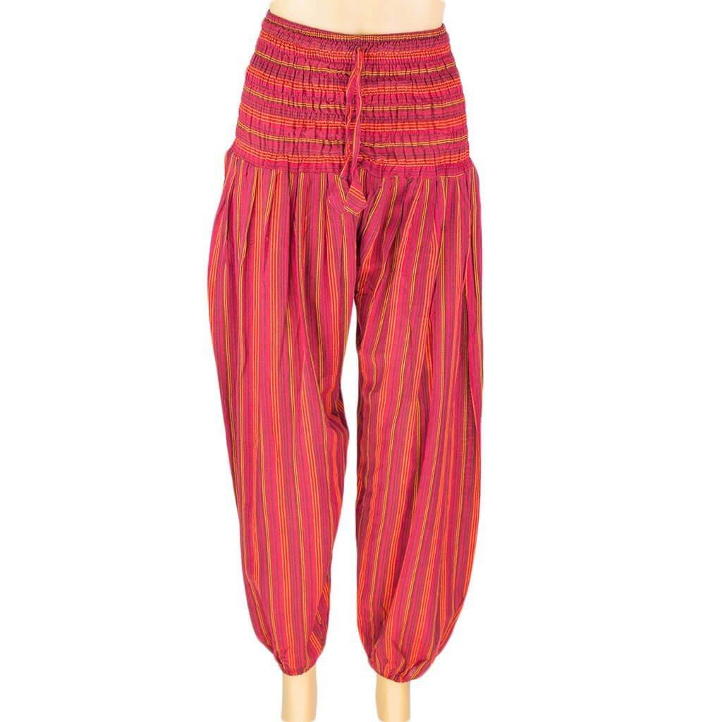 565742199758 Stripe Harem Pant – Red | Thamel Shop