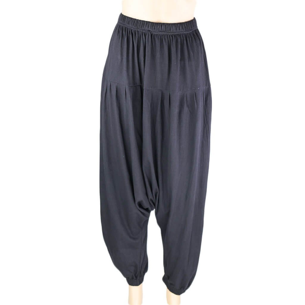 Drop crotch pant-Black