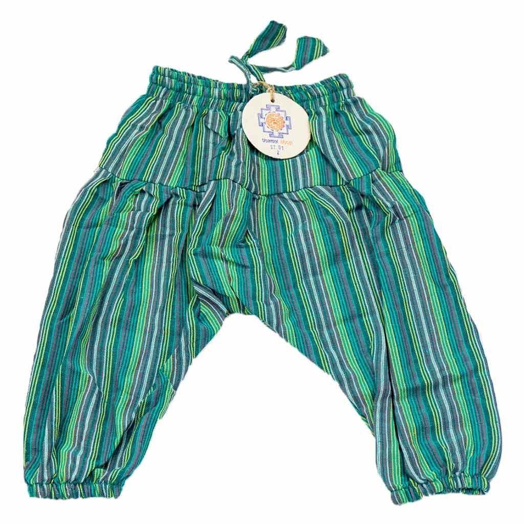 Kids Harem Pants-Green-ThamelShoP