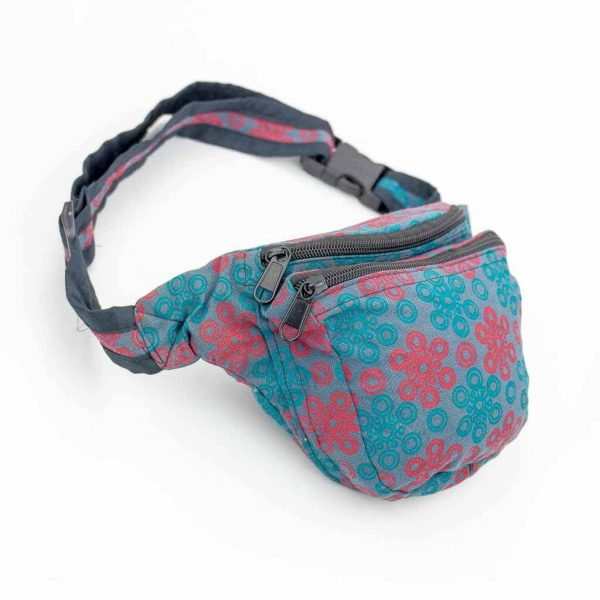 PSY Print Bum Bags - Thamelshop - bum bags - hemp bum bags - cotten bum bag - eco-friendly bum bag - organic bum bag -unique bum bag -nepali bum bag -handmade bum bag -colourfull bum bag