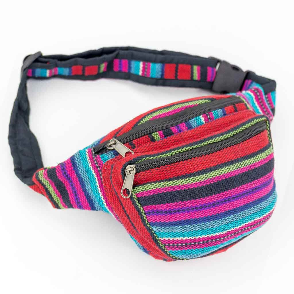 Ethnic Tribal Bum Bags - Thamelshop - bum bags - hemp bum bags - cotten bum bag - eco-friendly bum bag - organic bum bag -unique bum bag -nepali bum bag -handmade bum bag -colourfull bum bag