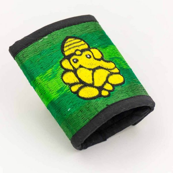 Ganesh Embroidered Cotton Wallet - Thamelshop - hemp wallet - spiral wallet -spiral embroidery wallet - cotten wallet- eco-friendly wallet -organic wallet-unique wallet-nepali wallet-handmade wallet - wallet- hemp wallet australia - hemp wallet with zipper-ganesh cotton wallet,ganesha hemp wallet