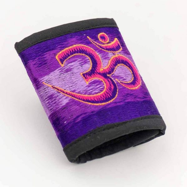Om Mantra Embroidered Cotton Wallet