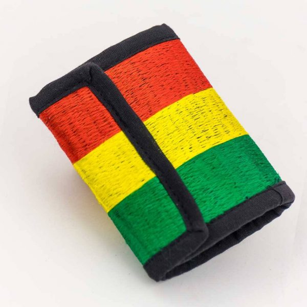 Rasta Embroidered Cotton Wallet