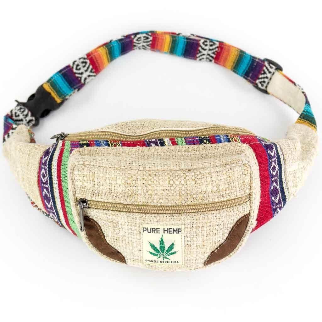 Tribal Print Hemp Bum Bags