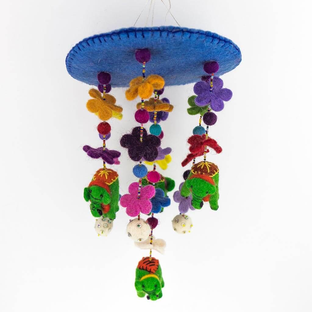 elephant toy - kid's toy - colorful toy - organic toy - kids hanger -elephant - thamelshop- circular elephant hanger - elephant hanger - christmas hanger - christmas elephant hanger - christmas decorative item - wool decorative item - felt decorative item - handmade christmas decorative item - christmas hanger- handmade christmas hanger - handmade christmas item - handmade decorative item - christmas - christmas felt item - elephant decorative item