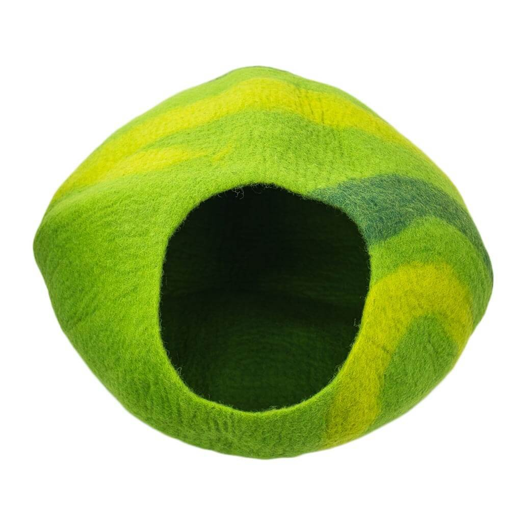 FC7506–Lime-Green-Felt-Cat-House