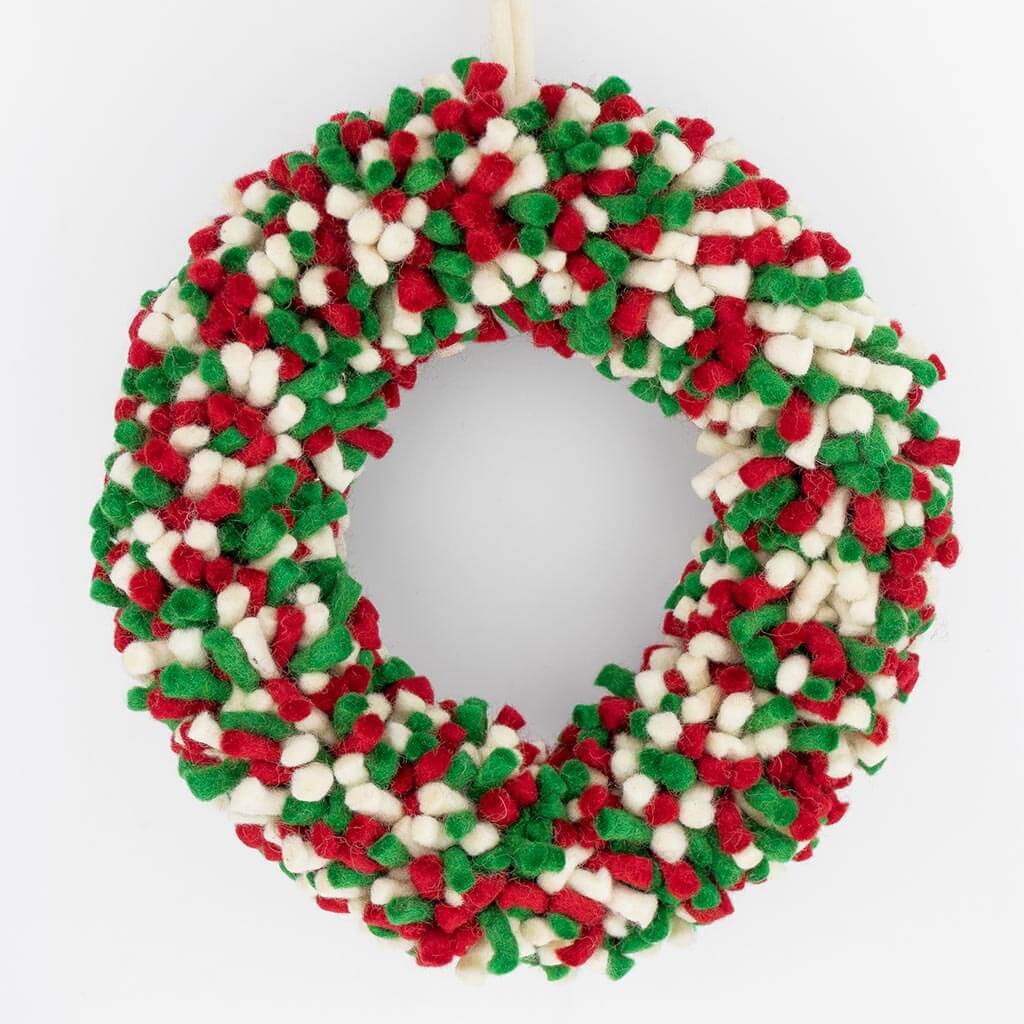 thamelshop - christmas wreath australia - christmas wreath - felt christmas wreath - christmas wreath images - christmas wreath ideas - wool christmas wreath - eco-friendly wreath - christmas gift - christmas decoration item- felt christmas decoration