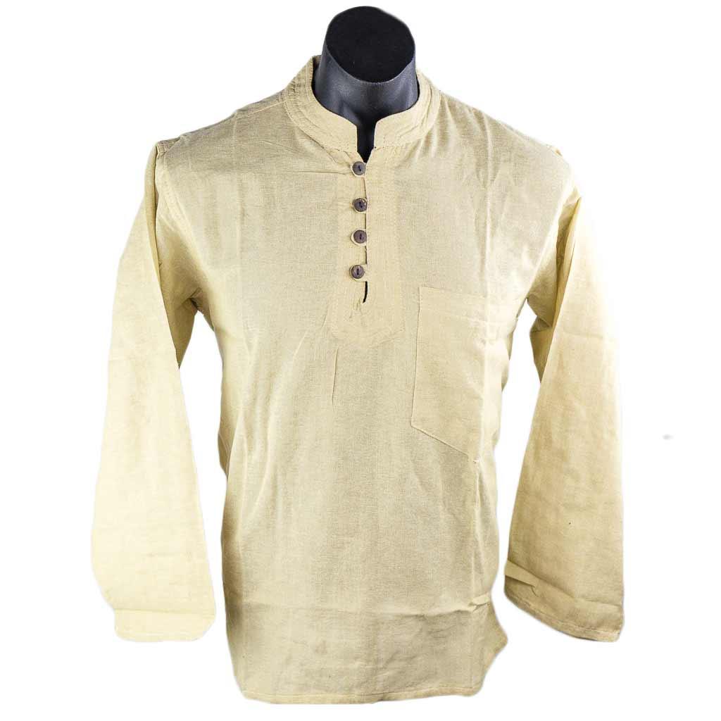 thamel-shop-full-sleeve-off-white-cotton-kurta-nepali-clothing-in-australia