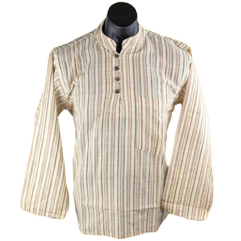Off-White-full-sleeve-stripe-kurta-thamelshop