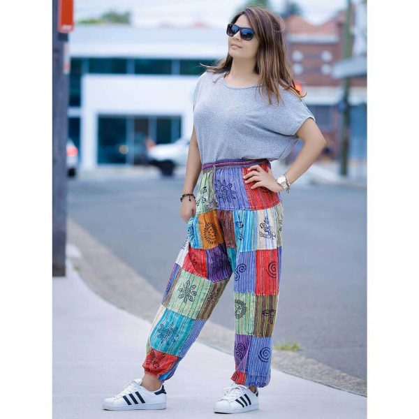 Patch Harem Pant Stripe