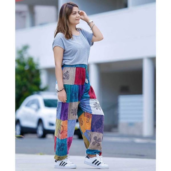 Patch Harem Pant