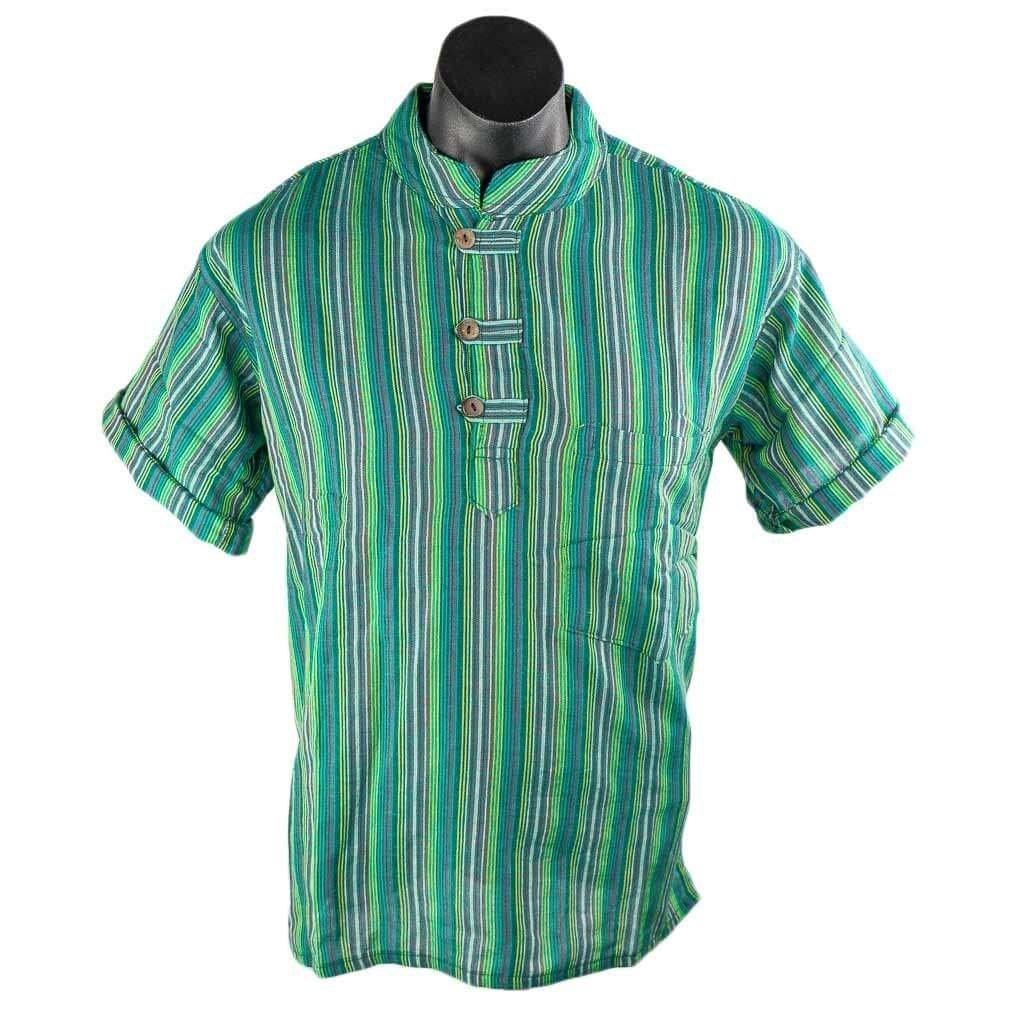 Sea-Green-kurta-short-sleeve-thamel-shop