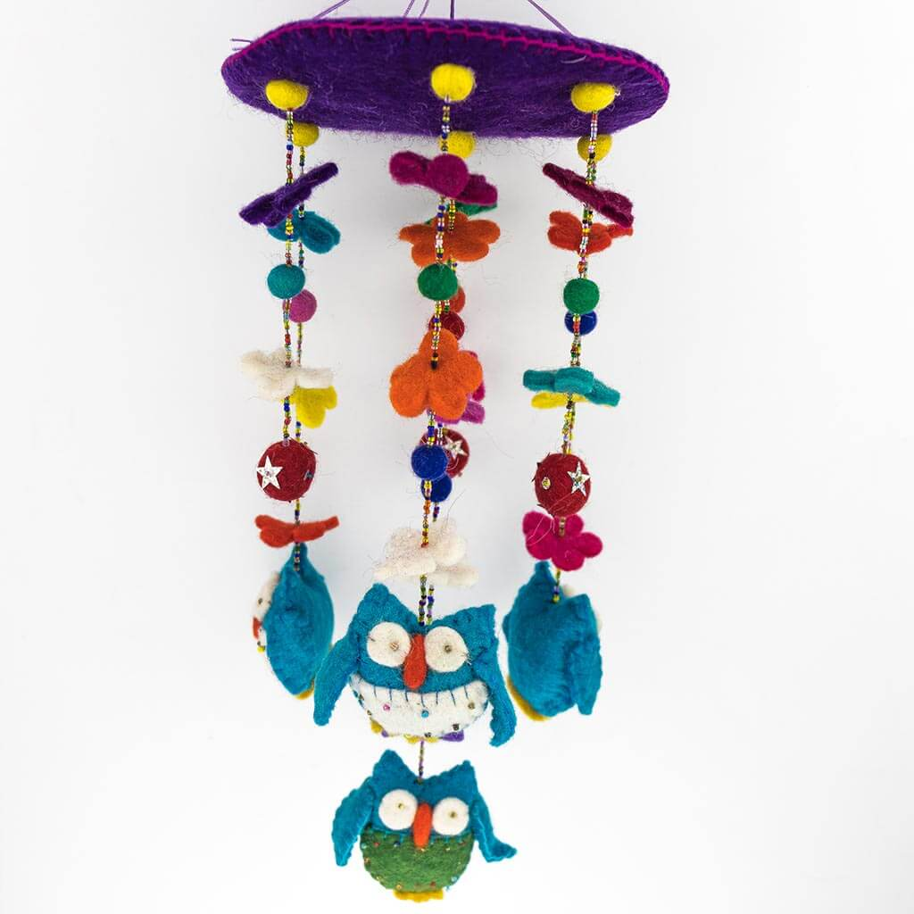 owl toy - kid's toy - colorful toy - organic toy - kids hanger -Owl- thamelshop- circular owl hanger - owl hanger - christmas hanger - christmas owl hanger - christmas decorative item - wool decorative item - felt decorative item - handmade christmas decorative item - christmas hanger- handmade christmas hanger - handmade christmas item - handmade decorative item - christmas - christmas felt item - owl decorative item