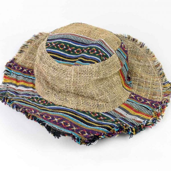 Assorted Hemp Sun Hat - Mix Patch