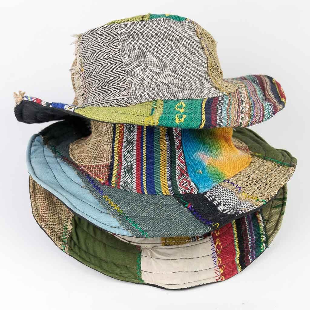 Assorted Hemp Sun Hat - Mix Patch